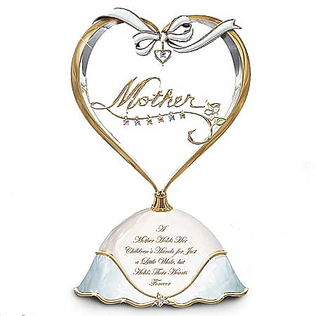 Heart Music Box for Mom with Kids Birthstones