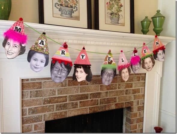 How to decorate with photos for a milestone birthday party for 80th birthday decoration ideas