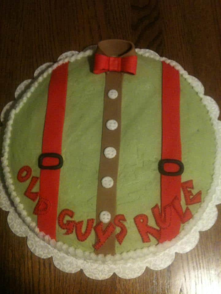 Funny 75th Birthday Cake for Men - Old Guys Rule