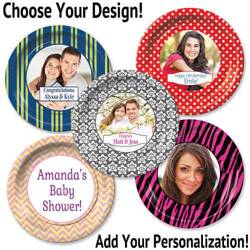 Personalized Birthday Party Photo Plates