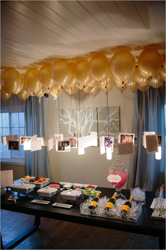 pictures hanging from balloons - Party Decorating Ideas