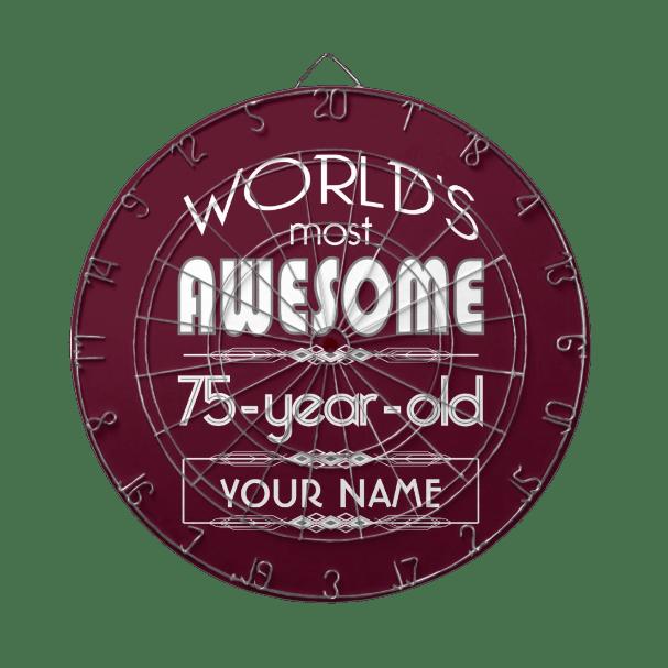 75th Birthday Dart Board