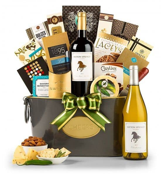 75th Birthday Food and Wine Gift Basket for Dad