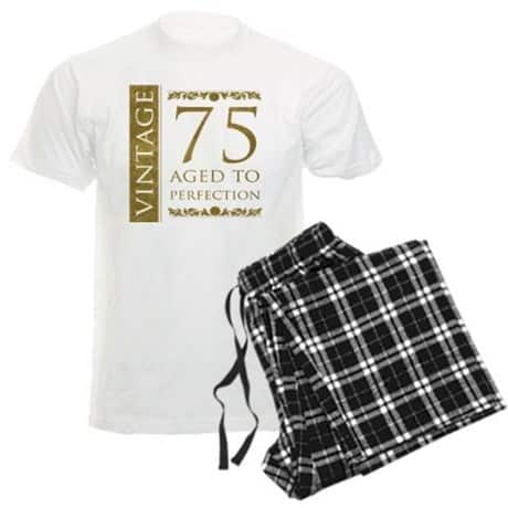 Funny 75th Birthday Pajamas For Dad