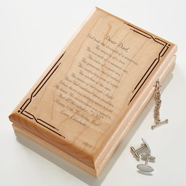 This Sentimental Gift Is The Perfect Way For You To Let Dad Know How Much Love Him 75th Birthday Ideas 30 Presents He Ll Actually