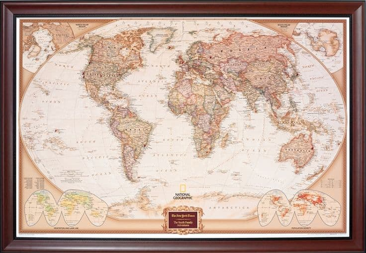 Personalized Pin Your Journeys Map