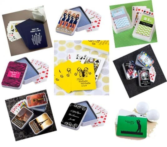 Personalized Playing Cards and Card Case Party Favors