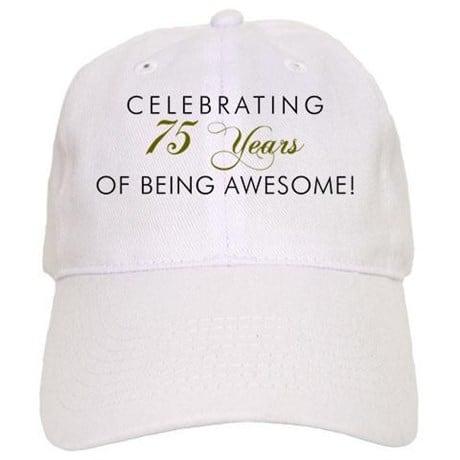 75th birthday hat