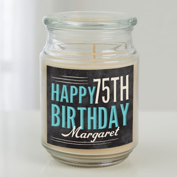 Personalized 75th Birthday Candle