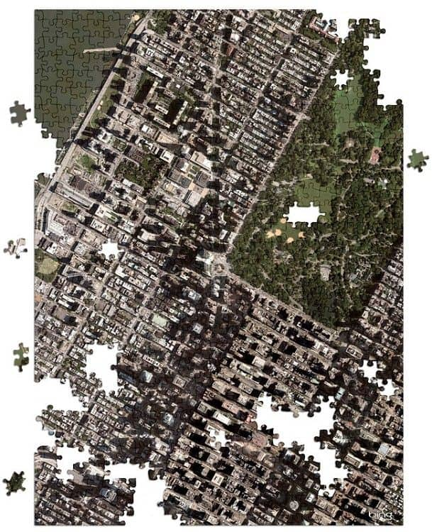 Hometown Aerial Map Jigsaw Puzzle