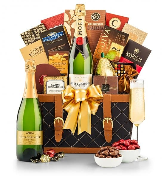 75th Birthday Gift Basket Champagne