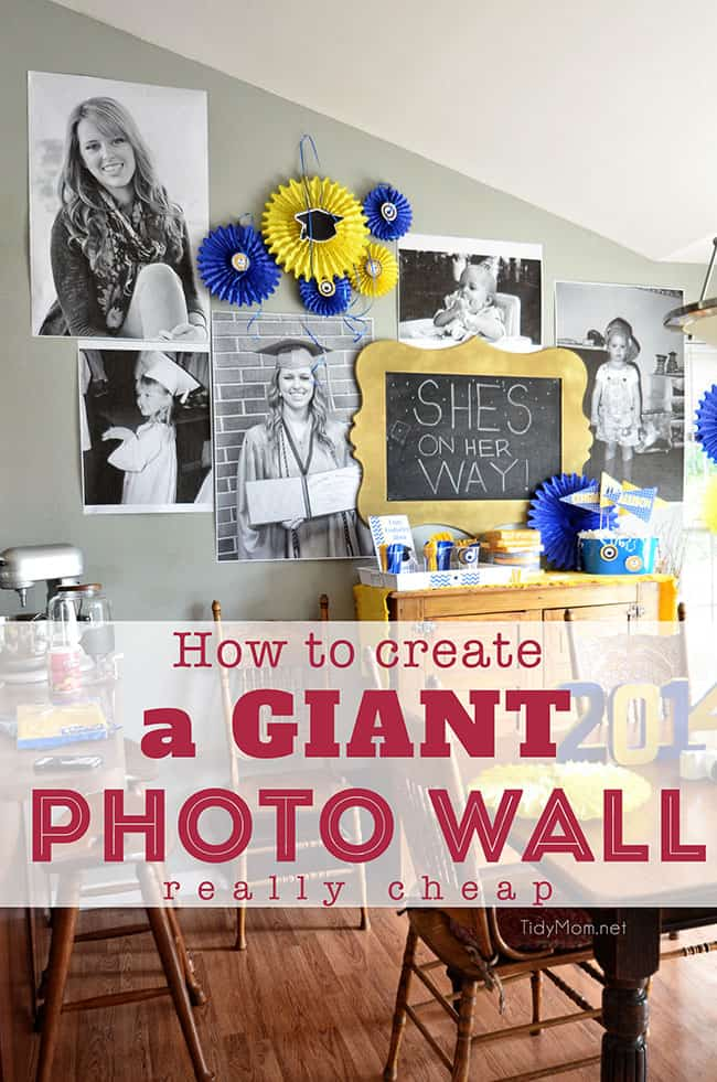 How to Create a Giant Photo Wall - Under $15