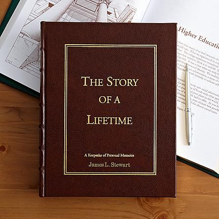 Gift ideas for Dad - Dad will love preserving his favorite memories in this handsome memory book. Personalized book has around 500 prompts with space for him to write his responses. A gift he'll love - and the family will treasure reading!