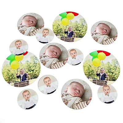 Photo Birthday Table Confetti