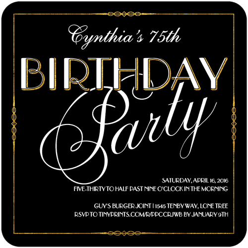 Formal Birthday Invitations for good invitations template