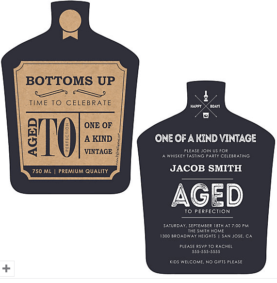 Aged To Perfection 75th Birthday Party Invitations