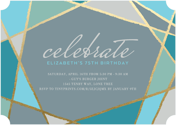 Celebrate Birthday Party Invitations