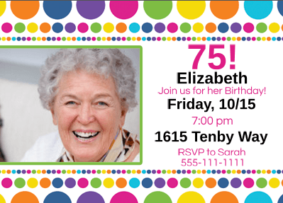Inexpensive 75th Birthday Party Invitations