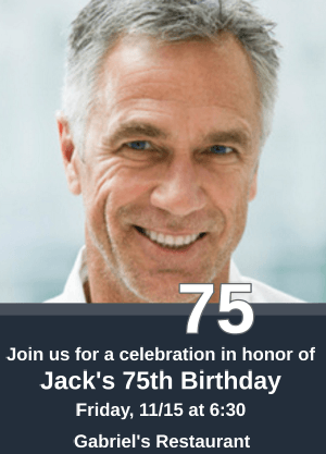 Inexpensive Personalized 75th Birthday Party Invitations