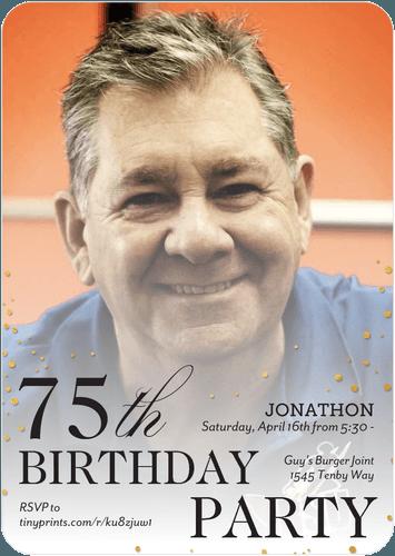 75th Birthday Photo Invites