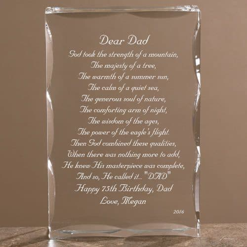 Dear Dad Personalized Keepsake