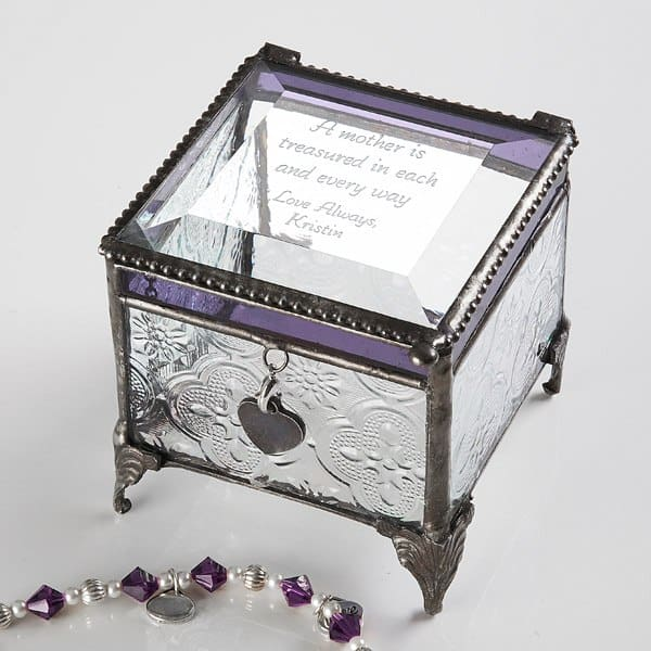 Personalized Vintage Jewelry Box