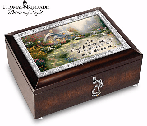 Thomas Kinkade Personalized Birthstone Music Box for Mom