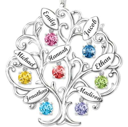 75th Birthday Family Tree Necklace