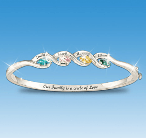 Circle of Love Family Birthstone Bracelet