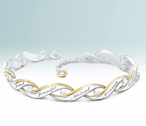 A Milestone Event Like 75th Birthday Calls For Memorable Gift That Mom Will Treasure Years To Come Bracelet With Family Members Names Fits The