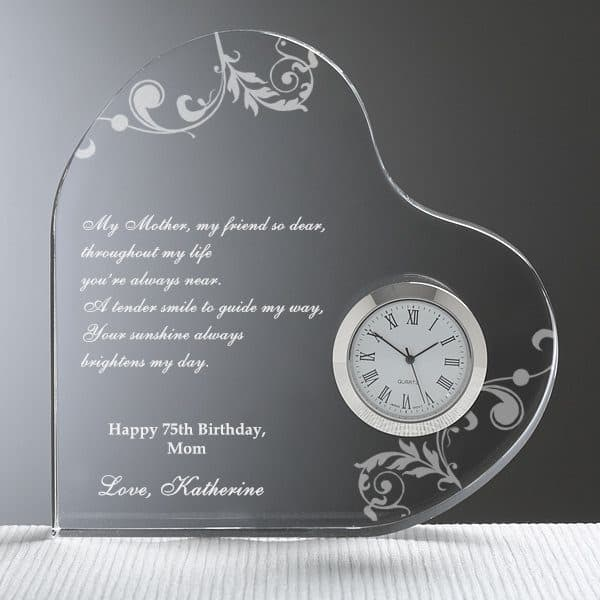Dear Mom Heart Clock - Personalized