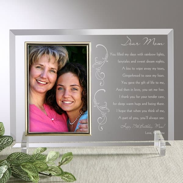 Personalized 75th Birthday Poem Frame for Mom
