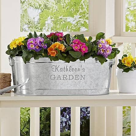 Personalized Galvanized Planter