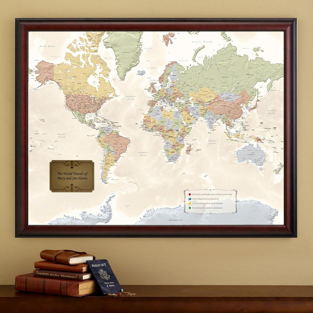 Beautiful personalized map is a fabulous gift for any traveller!