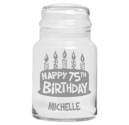 Personalized birthday candy jar is a sweet little gift for any man or woman!