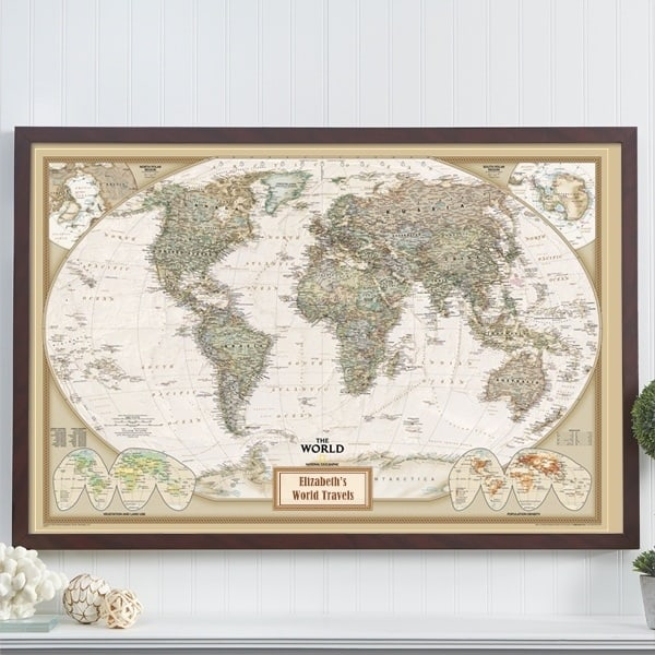 Personalized travel map is a fabulous birthday gift for anyone who loves travelling!