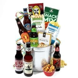 75th Birthday Beer Gift Basket