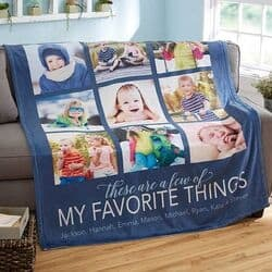 Personalized Photo Blanket for Dad - Choice of Colors