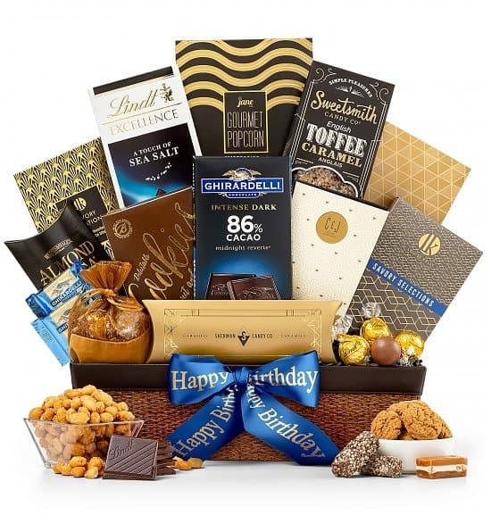 Birthday Gift basket is an excellent gift idea for anyone with a sweet tooth!