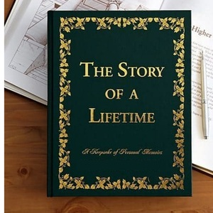 Story of a Lifetime is an award-winning memoir book that's perfect for seniors to record their most treasured memories and life observations. Great milestone birthday gift!