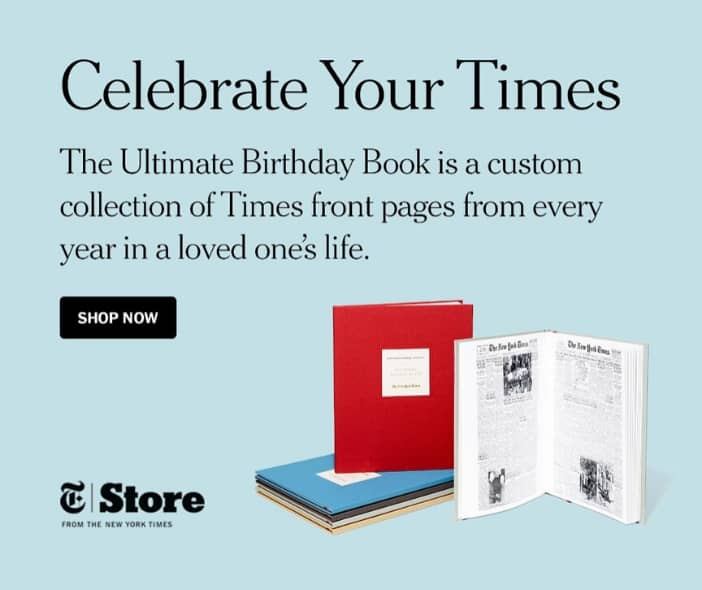 Best 75th Birthday Gift Ideas - Looking for a unique birthday gift for 75 year old? Impress him or her with The New York Times Ultimate Birthday book...every birthday front page for the entire year! Click for details, or to see 50+ awesome gift ideas for 75 year olds.