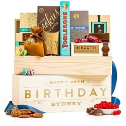 Personalized 75th Birthday Snack Gift Crate