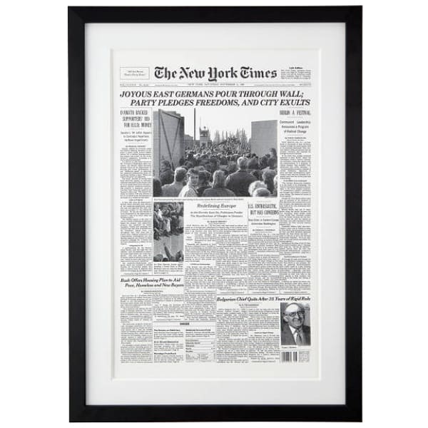 Birthday Gift Ideas for 75 Year Olds - Looking for a unique 75th birthday gift for the man or woman who has everything? Impress your favorite senior with a reprint of The New York Times from the day they were born!