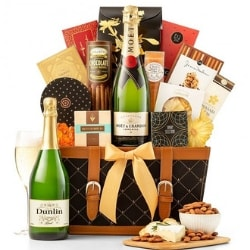 75th Birthday Champagne Gift Basket for Dad
