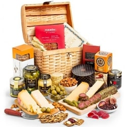 75th Birthday Meat and Gourmet Cheese Gift Basket