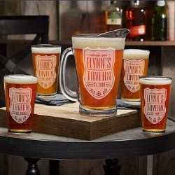 75th Birthday Beer Pitcher & Pint Glasses Set