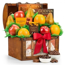 Fresh Fruit & Chocolate 75th Birthday Gift Basket