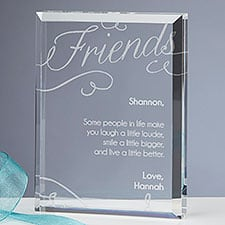 Friends Forever Personalized Crystal Keepsake Gift for Women