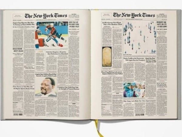 The New York Times Custom Birthday Book features every birthday front page from their entire life. Perfect milestone birthday gift!