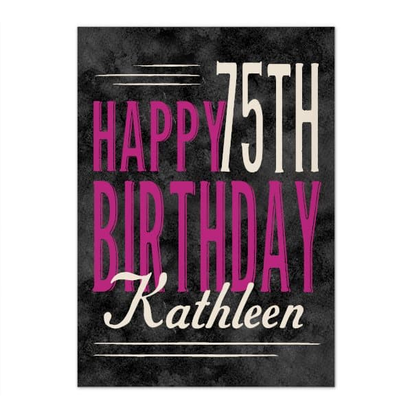 Personalized 75th Birthday Greeting Card for Women